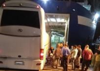 При въезде на крымский паром на Кубани застрял рейсовый автобус, фото — «Рекламы Гулькевичей»