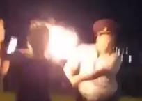Девушки из файер-шоу пытались поджечь полицейских ВИДЕО, фото — «Рекламы Тихорецка»
