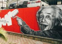 Портрет Альберта Эйнштейна появился на стене в Сочи, фото — «Рекламы Курганинска»