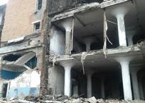 Обрушилась стена здания хладокомбината в Краснодаре , фото — «Рекламы Тихорецка»