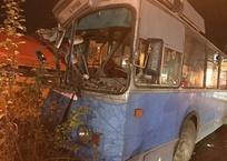 Жесткое ДТП в Краснодаре: Троллейбус с пассажирами снес дерево, фото — «Рекламы Краснодара»
