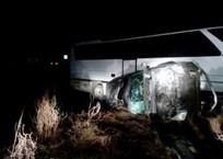 Элитный внедорожник протаранил пассажирский автобус в Темрюкском районе, фото — «Рекламы Тихорецка»