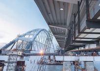 Таманская часть Крымского моста соединилась с аркой над Керченским проливом, фото — «Рекламы Кропоткина»
