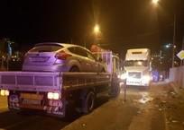 На Кубани «Форд» «расколошматило» после столкновения с прицепом фуры ВИДЕО, фото — «Рекламы Хадыженска»