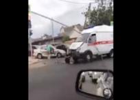 «Скорая» попала в ДТП в Краснодаре, фото — «Рекламы Краснодара»