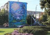 Гигантский рисунок появился на стене пятиэтажки в Краснодаре ВИДЕО, фото — «Рекламы Краснодара»