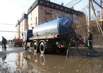 Дождь с мокрым снегом затопил несколько улиц в Краснодаре, фото — «Рекламы Краснодара»