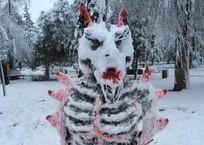 Снежный демон из Темрюка напугал кубанцев ВИДЕО, фото — «Рекламы Кубани»
