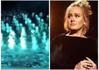 Хор кубанских снеговиков попросил певицу Адель не уходить со сцены, фото — «Рекламы Кубани»