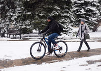 В начале недели на Кубани будет холодно и снежно, фото — «Рекламы Кубани»