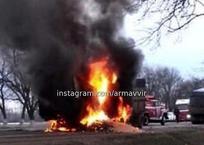 Под Армавиром оторвавшийся прицеп протаранил «газель», произошел взрыв, фото — «Рекламы Армавира»