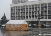 В фонтане на Театральной площади Краснодара - короткое замыкание, фото — «Рекламы Краснодара»