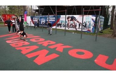 Воркаут-площадку открыли в Чистяковской роще Краснодара, фото — «Рекламы Кубани»