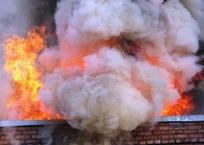 Крупный торговый центр горел в Краснодаре, людей эвакуировали, фото — «Рекламы Кубани»