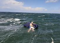 В Краснодарском крае уснувшего туриста унесло на матрасе в море, фото — «Рекламы Кубани»