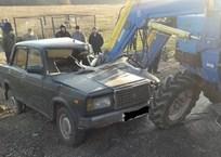 В Краснодарском крае трактор столкнулся с легковушкой, фото — «Рекламы Ейска»