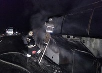 На трассе Краснодар – Ейск сгорел пассажирский автобус, фото — «Рекламы Армавира»