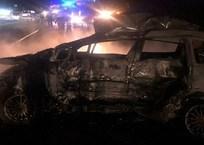 На Кубани после ДТП загорелся автомобиль вместе с водителем, фото — «Рекламы Геленджика»