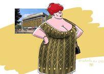 Стринги, портупея, декольте. Художник изобразил краснодарские здания в образе женщин (ФОТО 18+), фото — «Рекламы Кубани»
