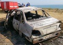 В Анапе дотла сгорела иномарка, фото — «Рекламы Курганинска»