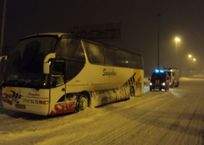 В Краснодарском крае спасли от замерзания 65 пассажиров рейсового автобуса, фото — «Рекламы Адлера»