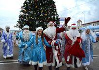 В Сочи прошёл парад Дедов Морозов, фото — «Рекламы Кубани»
