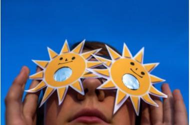 Онлайн-трансляция солнечного затмения, фото — «Рекламы Евпатории»