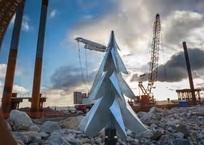 Появилось новогоднее видео с места строительства Керченского моста, фото — «Рекламы Севастополя»