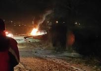 «Огненное» ДТП в Казачке: иномарка сгорела дотла, фото — «Рекламы Севастополя»
