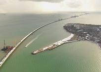 Строящийся Керченский мост сняли из космоса, фото — «Рекламы Бахчисарая»