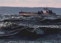 Керченская переправа может снова остановиться из-за шторма, фото — «Рекламы Фороса»