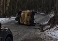 По дороге на Ай-Петри перевернулся автомобиль ФОТО, фото — «Рекламы Партенита»