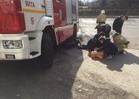 Пожарная машина в Крыму переехала мотоциклиста - водитель в коме, фото — «Рекламы Красногвардейского»