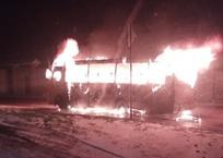 Пассажирский автобус дотла сгорел в Симферополе — водитель в больнице, фото — «Рекламы Симферополя»