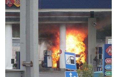 В Крыму чуть не взорвалась бензоколонка, фото — «Рекламы Красногвардейского»