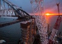 Крымский мост показал свои живописные грани ФОТО, фото — «Рекламы Черноморского»