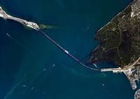Шкаплеров сделал новые снимки Крымского моста из космоса, фото — «Рекламы Крыма»