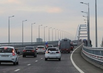 С Крымского моста эвакуировано несколько автомобилей, фото — «Рекламы Черноморского»