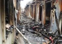 В Крыму ночью сгорел крупный вещевой рынок ФОТО, фото — «Рекламы Феодосии»