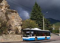 Туристы в шоке от междугородних троллейбусов: смотреть на Крым приходится через чёрную сеточку, фото — «Рекламы города Саки»