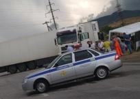В Крыму фура снесла с трассы автобус с пассажирами ВИДЕО, фото — «Рекламы Крыма»