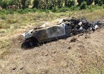 Под Бахчисараем BMW вылетел в кювет: водитель сгорел, фото — «Рекламы Армянска»