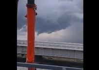 Видеофакт: смерч вблизи Крымского моста, фото — «Рекламы Евпатории»