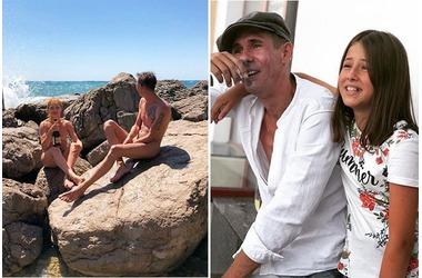Алексей Панин с дочкой отдыхает в Крыму на нудистском пляже ФОТО, фото — «Рекламы Фороса»