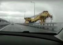 С Крымским мостом столкнулся сорвавшийся с якоря плавкран ВИДЕО, фото — «Рекламы города Саки»