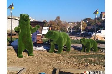 Зеленая зона на улице Пожарова в Севастополе станет сквером «Ленинских мишек», фото — «Рекламы Севастополя»