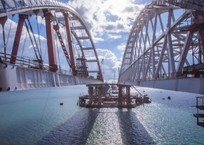 Крымский мост обледенел. Движение парализовано ВИДЕО, фото — «Рекламы Партенита»