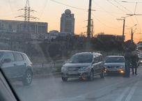 В Севастополе на пешеходном переходе столкнулись иномарки ФОТО, фото — «Рекламы Севастополя»