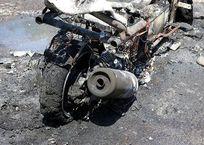 На улице крымского курорта сгорел мопед, фото — «Рекламы Черноморского»