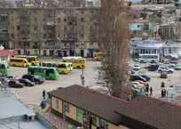 Площадь Захарова в Севастополе останется в автобусном плену, фото — «Рекламы Севастополя»